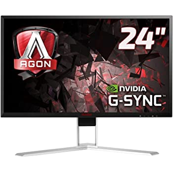 "AOC AGON AG241QG Monitor Gaming da 23,8"", QHD, 2560x1440, 165Hz, 1 msec, Speaker, DP, HDMI, 4 Porte USB, G-Sync, Nero"