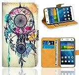 Huawei Ascend G7 Handy Tasche, FoneExpert® Wallet Case Flip Cover Hüllen Etui Ledertasche Lederhülle Premium Schutzhülle für Huawei Ascend G7 (Pattern 9)