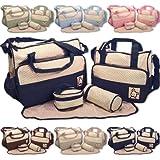 Baby World - Set di borse per cambio pannolini, 5 pezzi, colori assortiti