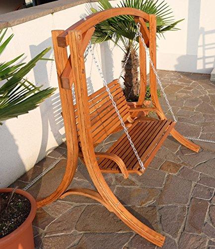 Design Hollywoodschaukel Gartenschaukel Hollywood Schaukel KUREDO-OD aus Holz Lärche von AS-S - 7