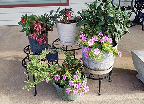 Porta fiori in set fiore sgabello in metallo decorativo per