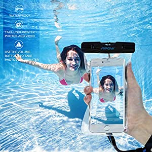 Funda Impermeable 2 Unidades, Mpow Funda Bolsa Impermeable IPX8 para Móvil Universal de 4-6 Pulgada iPhone 7/6s, 7/6s plus, 5s, SE Samsung S7/S7 Huawei Móvil