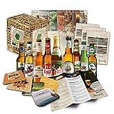 """""""Bier Spezialitäten aus Deutschland"""" Geschenkidee für Männer INKL. Bierdeckel + Geschenkkarton + Bier-Info. Biergeschenk für Männer oder als ausgefallene Geschenke für den Freund. Die perfekte Geschenkidee für Männer (9x0,33l)"""