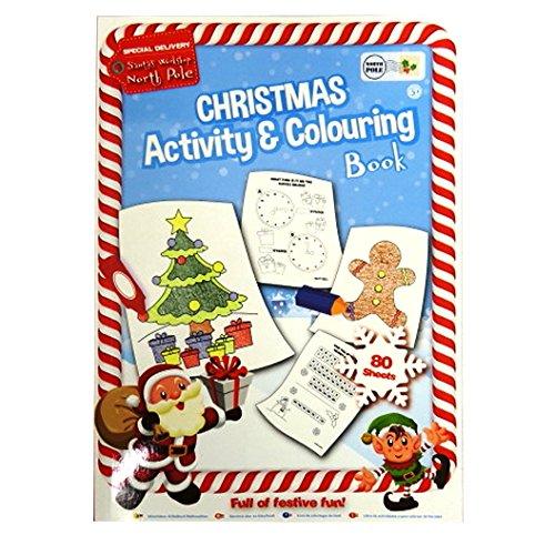 Kinder A4 Weihnachten Aktivität und Färbung Buch, 160 Seiten, von Santas Workshop