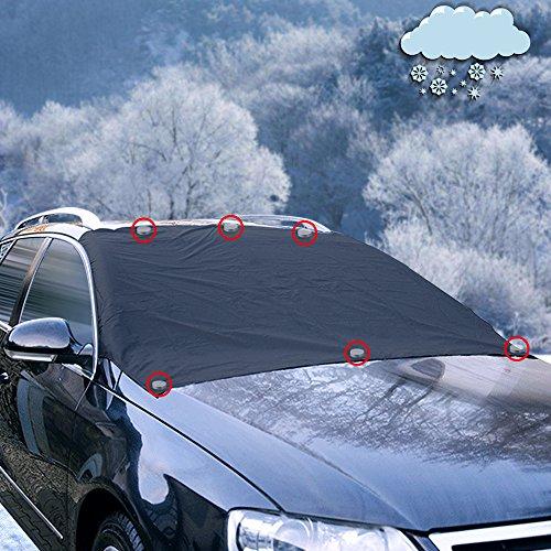 Preisvergleich Produktbild iZoeL Magnetische Frontscheibenabdeckung Auto Scheibenabdeckung Frostschutz Abdeckung mit 6 Magnete Eisschutzfolien Winterabdeckung Keine Kratzer Oversized für SUV Truck Normal Auto