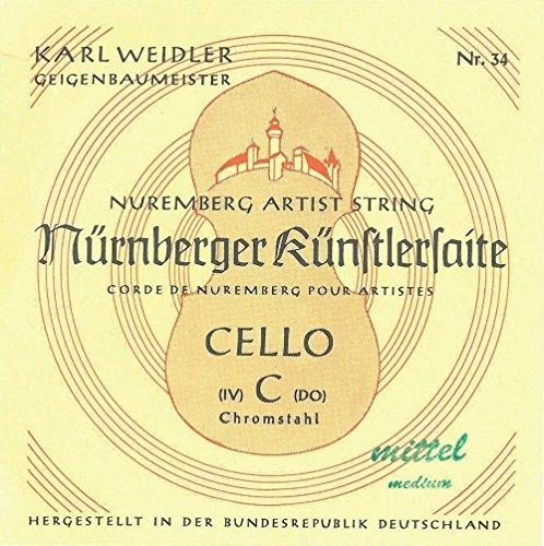 Karl Weidler Cello 4/4 A Saite Stahl mittel