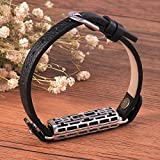 Chofit Fitbit Flex 2 Wearable Accessory Series-Replacement Elegant Bracelet for Fitbit Flex 2-Small Size for Wrist 5.5''-6.6'' (Small Black Strap with Silver Clip)