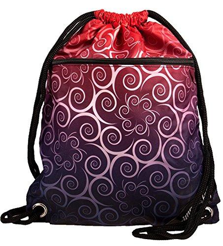 Turnbeutel mit 2 extra Taschen mit Reißverschluss   12 tolle Designs von schlichtem schwarz über bunt bis maritim   stabiler Stoff   beste Druckqualität   dicke Kordeln für hohen Tragekomfort Floral