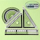 Dohuge Mathe-Geometrie-Set mit Schattesichere Box enthalten gerade Herrscher, Winkelmesser, Dreieck Herrscher für Studenten und technische Zeichnungen Mathe Scribing und Kennzeichnung Werkzeugsatz