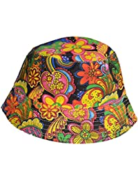 129a9130dab Cool colourful psychedelic paisley bucket hat