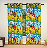 Feathers-Nature'S Touch Set of Two 4*7 FT PolyCotton Door/Window Kids Curtains
