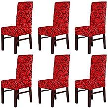 Amazon.fr : chaises de salle a manger noir et rouge : Toutes nos ...