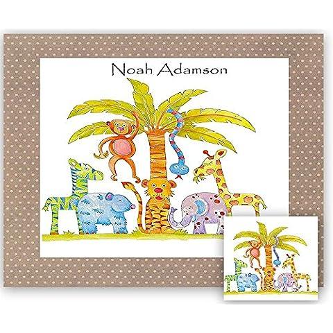 Personalizada de los niños Mantel individual, A3, Diseño de selva, de mesa, manteles individuales, Niños alfombra, Laminate