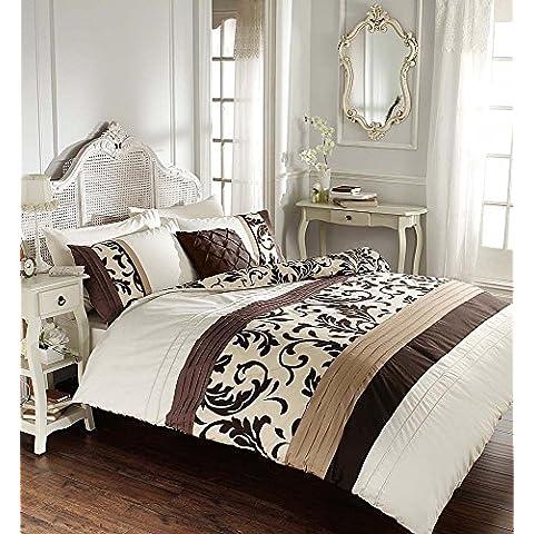 Desplazamiento Juego de cama (con fundas de almohada, Ropa de cama cama de juego de ropa de cama (Tamaño Doble King by Sady–Juego de funda nórdica, algodón poliéster, chocolate, doble