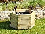 Holz Pflanzkasten / Blumenkasten - Sechseckform - in mehreren Größen oder als Set - druckimprägniert