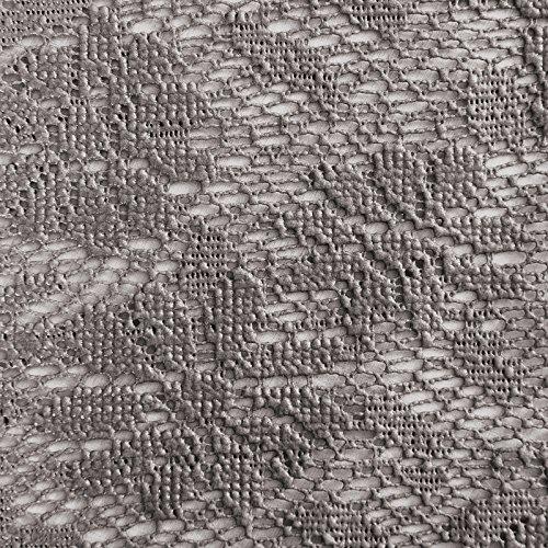 casa pura® Tischdecke Arnica | edles Dunkelgrau mit verspieltem Blumenmuster | Weichschaum für Garten und Balkon | rund 140 cm (Runde Terrasse Tisch Tischdecke)