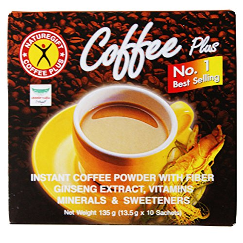 Coffee Plus - Instant Kaffee mit Ginseng 135g 10 Beutel Nature Gift Thailand