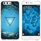 PhoneNatic Case für Huawei P10 Silikon-Hülle Element Wasser M4 Case P10 Tasche + 2 Schutzfolien