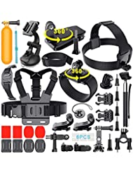 Erligpowht Accessories Kits for GoPro Hero 5 4 3+ GoPro Hero Session, Camera Accessories Bundle for AKASO Apeman A80 Xiaomi Yi Gopro Hero Accessory Set