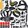 Erligpowht Sports Cam Accessories Kit Bundle for GoPro Hero 5 4 3+3 2 1 and sj4000 sj5000 sj6000 Action Camera Accessories Essential Set for Xiaomi Yi/Lightdow/WiMiUS/DBPOWER Apeman A80 Apeman A70
