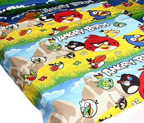 Kuber Industries Angry Birds Full size reversibile singolo Dohar/coperta/trapunta AC (Angry Birds Print)