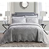 VCNY Home WS1-2BP-TWIN-IN-GV Westland Plush Quilted 2 Piece Bedspread Set , Twin, Grey