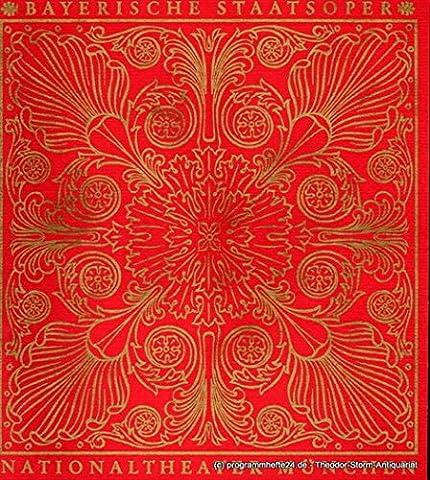 Programmheft Der Freischütz. Romantische Oper con Friedrich Kind. 8. Februar 1967. Blätter der Bayerischen Staatsoper Spielzeit 1966 / 67 Heft 4