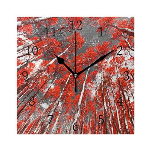 Ahomy Wanduhr Mangrove Wald Sky Home Art Decor Antiticking Ziffern Uhr für Zuhause Büro Schule - Sky Home Decor