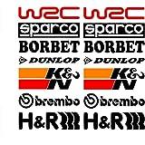 CVANU 14Pcs Racing Sponsors Logo Graphic Decal