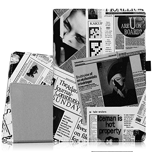 olio Hülle Case - Slim Fit Premium Kunstleder Schutzhülle Tasche Etui Cover mit Standfunktion und [Auto Sleep / Wake] Funktion for HTC Nexus 9 (8,9 Zoll) Tablet-PC by Google, Zeitung ()