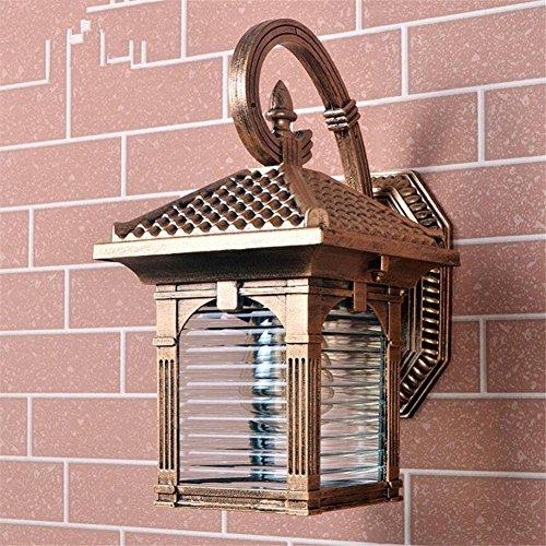 Nautische Außenwand (L&R Retro-Außenwand-Lampe Einfache Europäische Hof-Beleuchtung-Balkon-Gang-im Freienbeleuchtung)