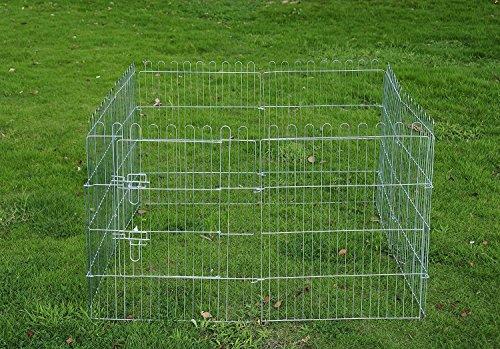 PawHut Freilaufgehege Welpenauslauf Welpenzaun Laufstall Welpengitter 8-teilig 4 Maßen: Maße: 91x63cm