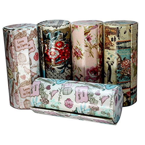 Best Gift - Multi-printed Travel & Home Bangles Hard-case Storage Box Pouch - Assorted Print (10 Inches)