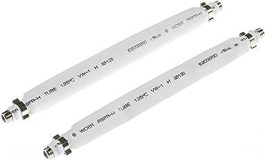 Poppstar2X 21,5cm Sat Fensterdurchführung (flach 2 mm), Türdurchführung fürKoaxKabel Kupplung (F-Stecker),für Fenster und Türen, weiß