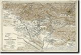 Vintage Karte von Tehran, Iran von 1900 Kunstdruck