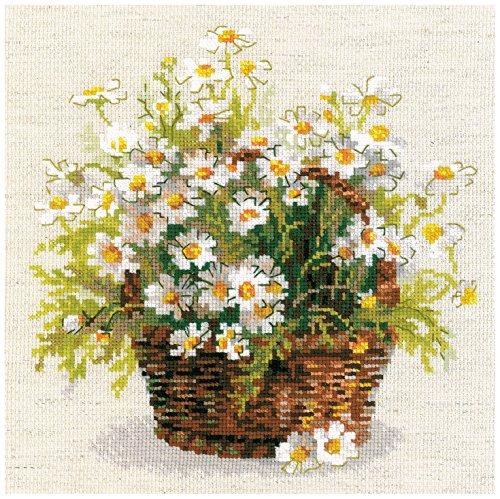 Riolis Der Kamille Kreuzstichpackung, Baumwolle, Mehrfarbig, 25 x 25 x 0,1 cm -