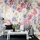 Handgemalte Blumengarten-Rosen-Tapete Des Wand-3D Wandgemälde-Wohnzimmer-Sofa Fernsehhintergrund-Wandverkleidungsdekoration (W)300X(H)210Cm