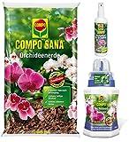 COMPO Orchideen-Pflege-Paket, 10 Liter Erde + 250 ml Dünger + 250 ml Blattpflege