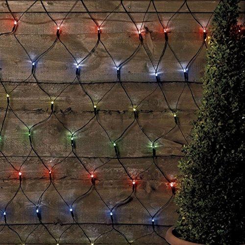 Solalite bunten 105LED Outdoor Net String Weihnachten Lichterkette Solar Powered Garden (Net Solar-weihnachts-lichter)