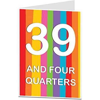 Funny 40th Birthday Card Age Joke For Him Her Perfect Friends Husbands Wifes Sons