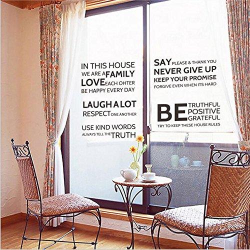 NRSP Das Wohnzimmer Balkon Fenster Glas Schiebetür Aufkleber Dekorpapier Englisch schreiben