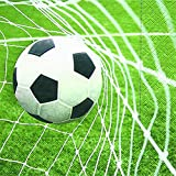 Servietten (2er Set / 40Stück) 3-lagig 33x33cm Fußball (Special goal)