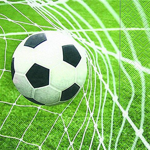 Servilletas (2 Juegos / 40 uds) 3 capas 33x33cm (Gol Especial Fútbol)