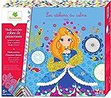 Les Ateliers du Calme - Coffret Multi Activités Robes de Princesses - Paillettes - Spirales - Motifs - Loisirs Créatifs Enfant - Dès 5 ans - Sycomore - CREH601...