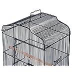 Pet Zone TALL XL BUDGIE COCKATIEL FINCH BIRD CAGE BLACK/WHITE NBH3081 (BLACK) 15