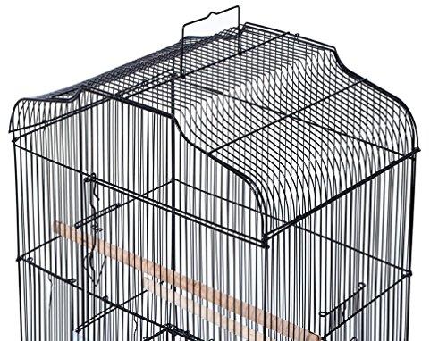 Pet Zone TALL XL BUDGIE COCKATIEL FINCH BIRD CAGE BLACK/WHITE NBH3081 (BLACK) 7