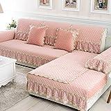 Cojines de sofá/Super color sólido moda continental suave terciopelo cristal cojines de sofá/ estera de péndulo vertical de franela deslizante sofá-A 90x240cm(35x94inch)