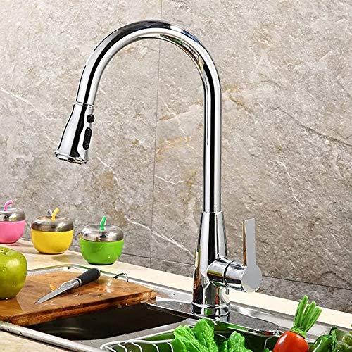 LCLZ Perfekt Hochwertige Diamond Spring Dreiteiliges Pumpen Von Heißem Und Kaltem Wasser Mixing Kitchen Single Chrome Wasserhahn (Chrome-wasser-pumpe)