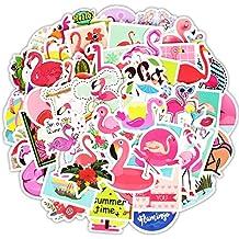 Vococal Pegatinas 50 Hoja Personalidad de Moda de Dibujos Animados Flamingo calcomanía Pegatinas para Maletas Equipaje