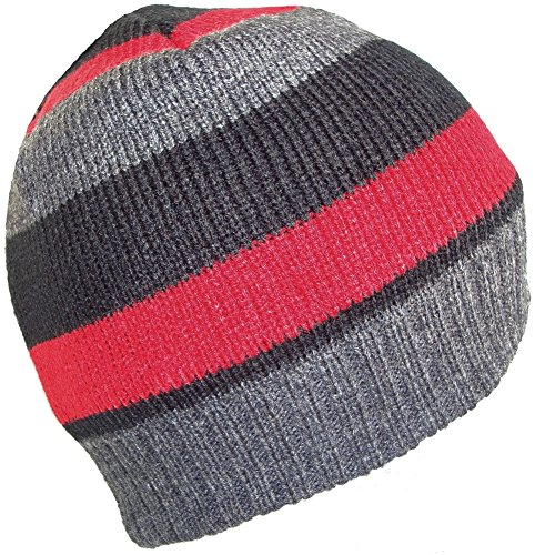 Thinsulate - Bonnet -  - À rayures Homme Multicolore Bigarré taille unique Multicolore - Red Stripe